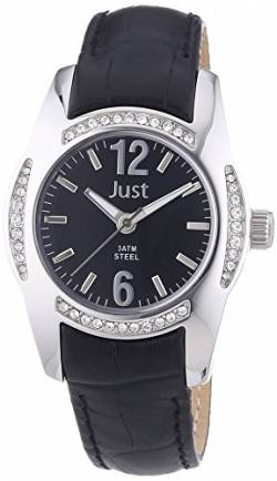 Just Watches Damen-Armbanduhr Analog Quarz Leder 48-S8368-BK von Just Watches