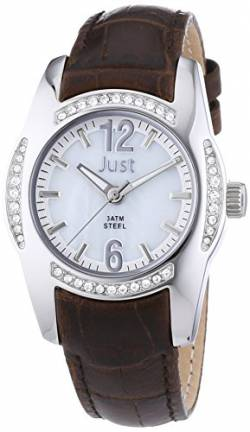 Just Watches Damen-Armbanduhr Analog Quarz Leder 48-S8368WH-BR von Just Watches
