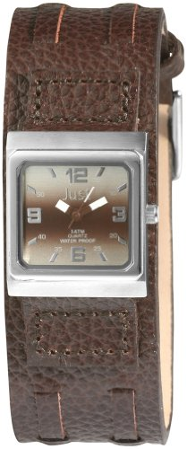 Just Watches Damen-Armbanduhr Analog Quarz Leder 48-S9237L-LBR von Just Watches