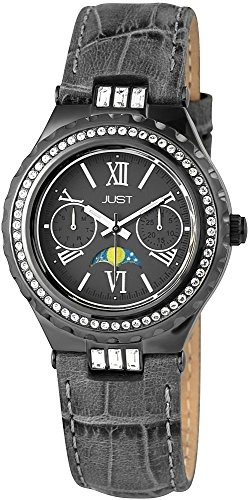 Just Watches Damen-Armbanduhr Analog Quarz Leder 48-S9254-GR von Just Watches