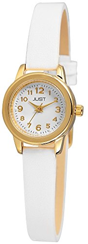Just Watches Damen-Armbanduhr XS Analog Quarz Leder 48-S4063-GD-WH von Just Watches