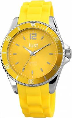 Just Watches Unisex-Armbanduhr Analog Quarz Kautschuk 48-S3862-YL von Just Watches