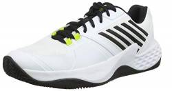 K-Swiss Performance Herren Aero Court HB Tennisschuhe, Weiß (White/Black/Neon Yellow 124M), 45 EU von K-Swiss Performance