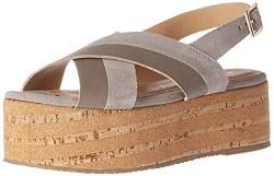KAANAS Damen Sydney Cross-Over Platform Wedge Keilabsatz-Sandale, Cement, 37 EU von KAANAS