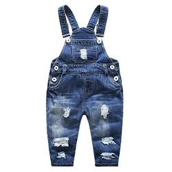 Kidscool Baby & Little Boys/Girls Stone Washed Ripped Soft Denim Overalls, Blau, 6-12 Monate von KIDSCOOL SPACE
