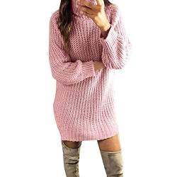 Kanpola Damen Pullover Kleider Damen Sexy Rollkragen Sweatshirt Strickkleid Winter Frauen Pulloverkleider Minikleid Sweatkleid Slim Fit Party Shirtkleider von Kanpola Damen Sweatshirts