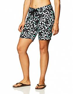 Kanu Surf Damen UPF 50+ Active Printed Swim and Workout Board Short Boardshorts, Audrey Schwarz, 38 von Kanu Surf