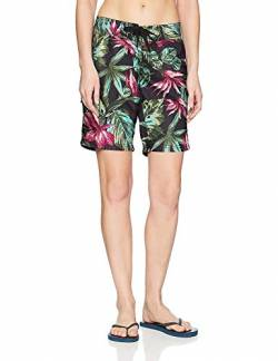 Kanu Surf Damen UPF 50+ Active Printed Swim and Workout Board Short Boardshorts, Hayley Schwarz, 40 von Kanu Surf