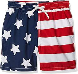 Kanu Surf Herren Monaco Swim Trunks (Regular & Extended Sizes) Badehose, USA-Flagge, Medium von Kanu Surf