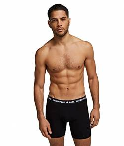 Karl Lagerfeld Mens Logo Boxers Set (Pack of 3) Boxer Shorts, Black, M von Karl Lagerfeld
