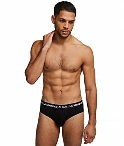 Karl Lagerfeld Mens Logo Set (Pack of 3) Briefs, Black, L von Karl Lagerfeld