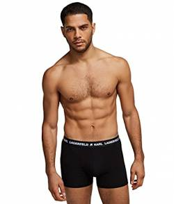 Karl Lagerfeld Mens Logo Set (Pack of 3) Trunks, Black, L von Karl Lagerfeld