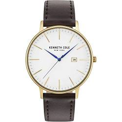 Kenneth Cole Herren Analog Quarz Uhr mit Leder Armband KC15059005 von Kenneth Cole