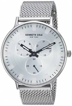 Kenneth Cole Men's KC14946013 Silver Stainless-Steel Analog Quartz Fashion Watch von Kenneth Cole