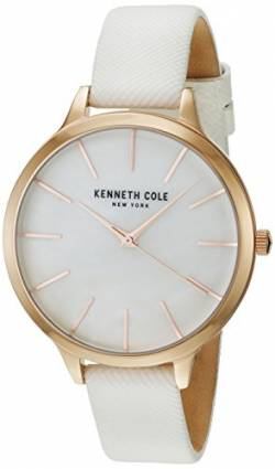 Kenneth Cole Women's KC15056001 White Leather Analog Quartz Dress Watch von Kenneth Cole