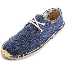 Kentti Men's Lace up Casual Canvas Slip on Flat Espadrille Shoes Blue 9-9.5 M US von Kentti