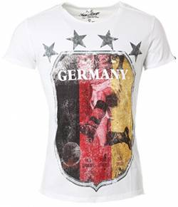 KEY LARGO Herren T-Shirt German Supporter Offwhite (20) L von KEYLARGO