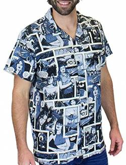 King Kameha Funky Hawaiihemd, Comic, monoschwarz, XL von King Kameha
