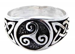 Kiss of Leather Ring Lebensbaum Triskele aus 925 Sterling Silber, Gr. 52-74 (64 (20.4)) von Kiss of Leather