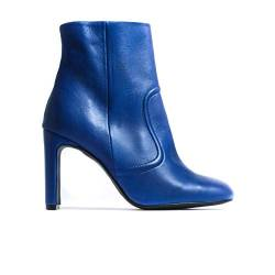 L'Intervalle Damen CIENEGA Blue Leather Halblange Stiefel, blau, 38 EU von L'Intervalle