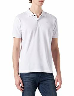 LERROS Herren Regular Fit Poloshirt Polo 2003200, Einfarbig, Gr. Medium, Weiß (white 100) von LERROS
