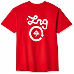 LRG Herren Men's Cycle Logo Short Sleeve Red 2XL T-Shirt, rot, XX-Large von LRG