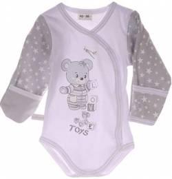 50 56 62 68 74 80 86 92 Kratzschutz Umschlag Baby SET Strampler /& LA Body Gr
