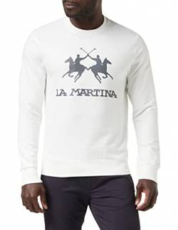 La Martina Herren Domingo Pullover, Elfenbein (Off White 00002), X-Large von La Martina