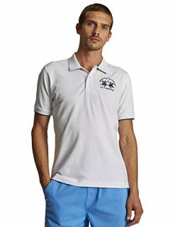 La Martina Herren Man Polo S/s Piquet STR Poloshirt, Weiß (Optic White 00001), X-Large von La Martina