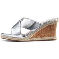 LASCANA High-Heel-Pantolette, mit Keilabsatz in Metallic-Optik von Lascana