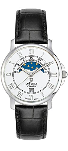 Le Temps of Switzerland Damenuhr Analog Lederarmband - 405122 von Le Temps of Switzerland