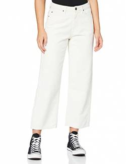 Lee Damen 5 Pocket Wide Leg Corduroy Hose, Elfenbein (Off White 26), 32W/31L von Lee