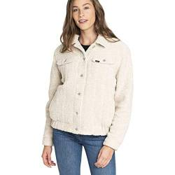 Lee Femme Sherpa Jacket Jacke, Ecru (Off White Mk), Large von Lee