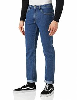 Lee Herren Brooklyn Straight Jeans , Blau (Mid Stonewash) , W40/L32 von Lee