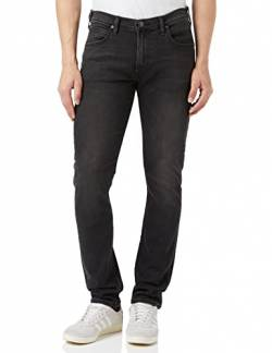Lee Herren Tapered' Tapered Fit Jeans Luke', Grau (Moto Grey Hga), 31W / 30L (Herstellergröße: 31W / 30L) von Lee