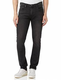 Lee Herren Tapered' Tapered Fit Jeans Luke', Grau (Moto Grey Hga), 30W / 32L (Herstellergröße: 30W / 32L) von Lee