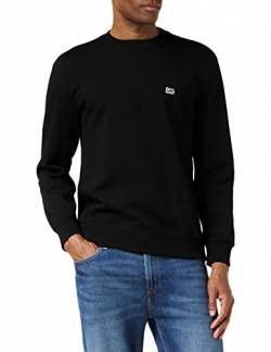 Lee Herren Plain Crew Sweatshirt, Schwarz (Black 01), X-Large von Lee