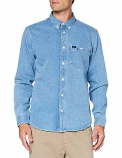 Lee Mens Riveted Shirt, Faded Blue_03, S von Lee