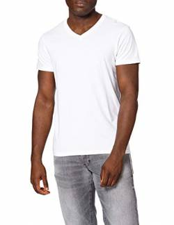 Lee Mens Twin Pack V Neck T-Shirts, White, L von Lee