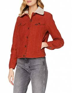Lee Womens Sherpa Rider Denim Jacket, RED OCRE, M von Lee