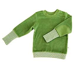 Leela Cotton Baby/Kinder Nicky Sweat-Shirt Bio-Baumwolle, Waldgrün, Gr. 74/80 von Leela Cotton