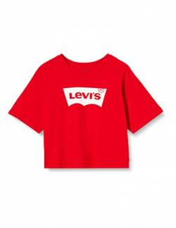 Levi's Kids Lvg Light Bright Cropped Top T-Shirt - Mädchen Super Red 8 Jahre von Levi's Kids