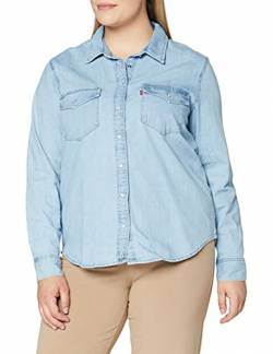 Levi's Damen Essential Western Hemd, Blau (Cool Out (2) 0001), Medium von Levi's