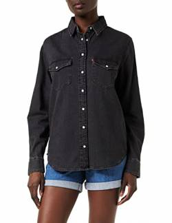 Levi's Damen Essential Western Hemd, Schwarz (Black Sheen (2) 0004), Medium von Levi's
