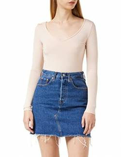 Levi's Damen HR Decon Iconic BF Skirt Rock, Blau (Meer In The Middle 0009), 25 von Levi's