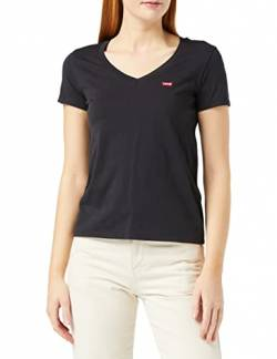 Levi's Damen Perfect Vneck T-Shirt, Schwarz (Caviar 0003), Medium von Levi's