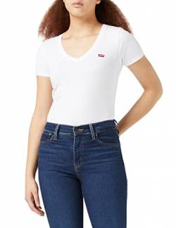 Levi's Damen Perfect Vneck T-Shirt, Weiß (White + 0002), Large von Levi's