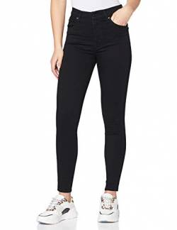 Levi's Damen Skinny Jeans Mile High Super, Schwarz (Black Galaxy 0052), W28/L32 von Levi's