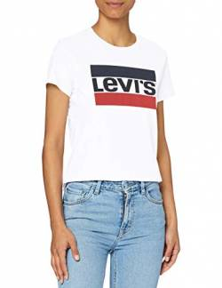 Levi's Damen The Perfect Tee T-Shirt, Weiß (Sportswear Logo White 0297), X-Large von Levi's