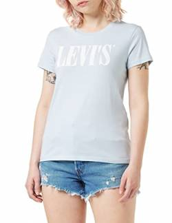 Levi's Damen The Perfect Tee T-Shirt, Blau (90's Serif T2 Baby Blue 0782), X-Small von Levi's
